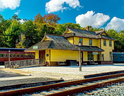 Photograph - Train Station In Tuckahoe by Nick Zelinsky