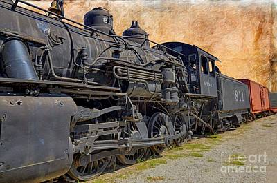 Photograph - Train - Steam Engine - No 811 by Liane Wright