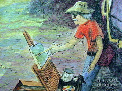 Painting - Train Stop Artist by Gretchen Allen