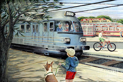 Painting - Train Stop At The Diner by Chris Dreher