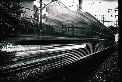 Train Tracks Wall Art - Photograph - Train by Tatsuo Suzuki