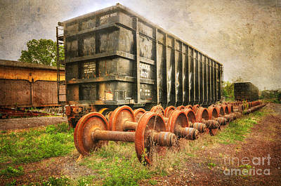 Train - The Freight Car Print by Paul Ward
