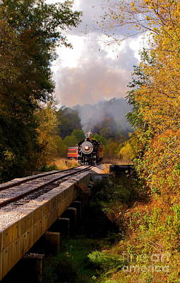 Bath Time - Train Through The Valley by Robert Frederick