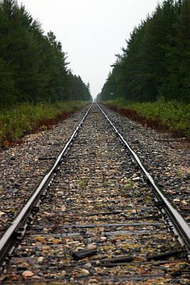 Train Track Vanishing Art Print by Kevin Snider