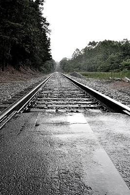 Photograph - Train Tracks by Amber Summerow