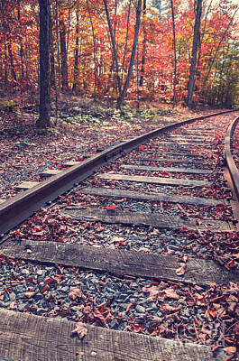 Photograph - Train Tracks by Edward Fielding