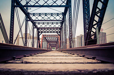 Photograph - Train Tracks From A Low Angle by Anthony Doudt
