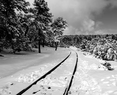 Photograph - Train Tracks In The Snow by Laurel Powell