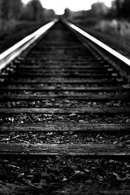 Train Tracks Art Print by Nikki Dunn