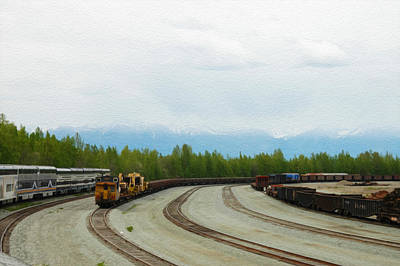Train Tracks Art Print by Tracy Winter