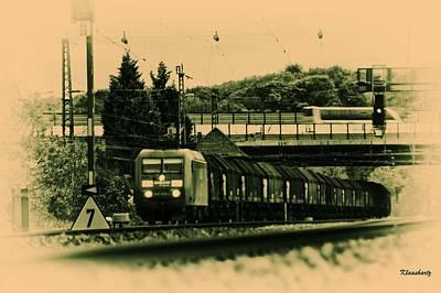 Train Travel In The Future Art Print