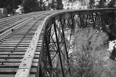 Butte Montana Photograph - Train Trestle 3 by Kevin Bone
