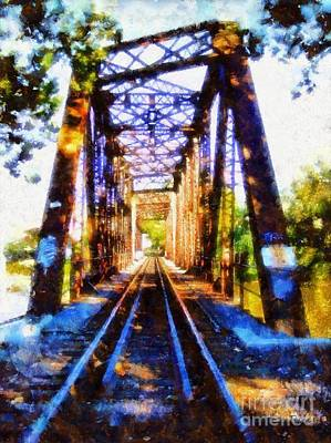 Photograph - Train Trestle Bridge 2 by Janine Riley