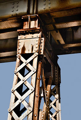 Photograph - Train Trestle Steel by Greg Jackson