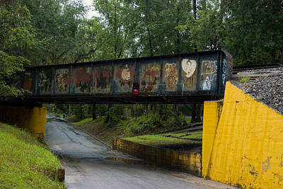 Photograph - Train Trestle With Graffiti  by Beverly Stapleton