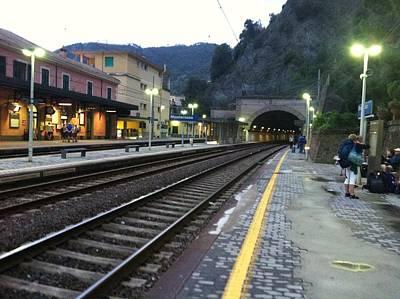 Train Tunnel In Cinque Terre Italy Art Print