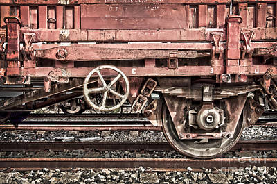 Freight Train Photograph - Train Wagon by Delphimages Photo Creations