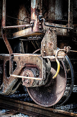 Photograph - Train Wheel Closeup Hdr by Danny Hooks