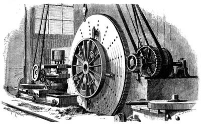 Production Photograph - Train Wheel Production by Science Photo Library