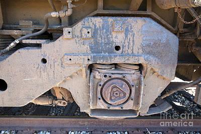 Train Wheel Art Print by Russell Christie