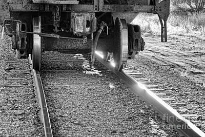 Photograph - Train Wheels Hitting The Tracks by James BO  Insogna