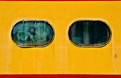 Train Window Art Print by Bud Simpson