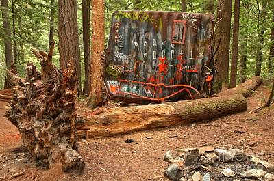 Photograph - Train Wreck Along The Cheakamus River by Adam Jewell