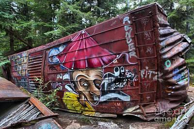 Photograph - Train Wreck Near The Cheakamus River by Adam Jewell