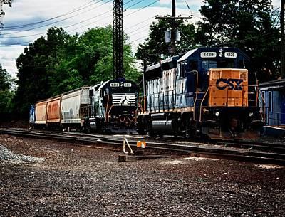 Train Yard Original by Clinton Mingo