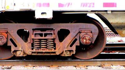 Photograph - Train Yard Close Up 1 by Anita Burgermeister
