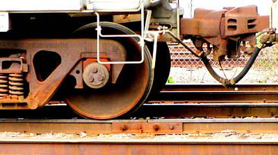 Photograph - Train Yard Close Up 2 by Anita Burgermeister