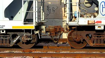Photograph - Train Yard Close Up 5 by Anita Burgermeister