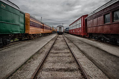 Train Depot Photograph - Train Yard by Mike Burgquist