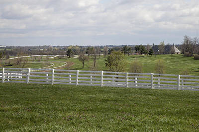 Photograph - Training Barn And Turf Track by Jack R Perry