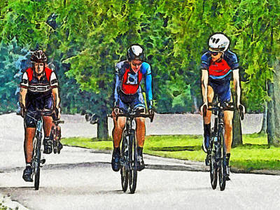 Digital Art - Training Ride by Digital Photographic Arts