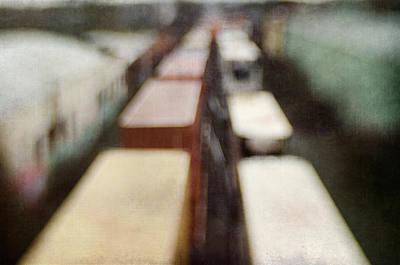 Photograph - Trains 2 by David Morel