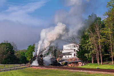 Photograph - Trains At Cass Scenic Railroad by Mary Almond