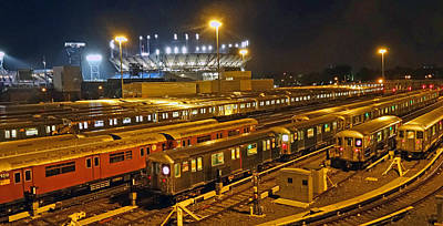 Trains Nyc Art Print by Jeffrey Friedkin