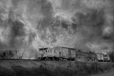 Caboose Photograph - Trainscape by Betsy Knapp