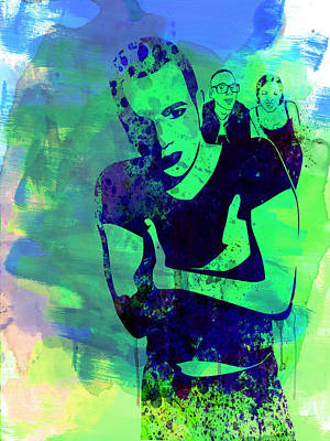 Trainspotting Watercolor 2 Art Print by Naxart Studio