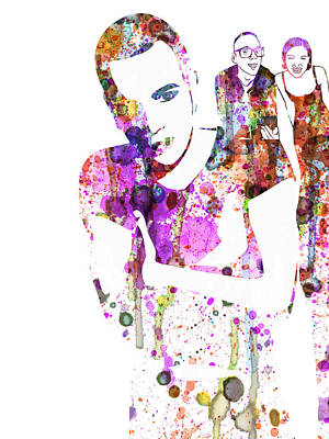 Trainspotting Watercolor Art Print by Naxart Studio