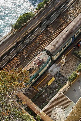 Trainstation In Italy Near The Sea Art Print