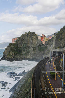 Trainstation In Manarola Italy Art Print