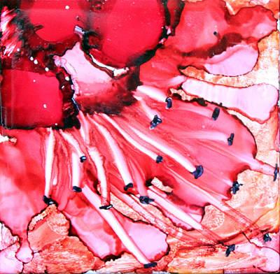Ceramic Art Tile Painting - Trajectory by Judy Swircenski