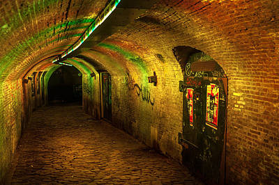 Photograph - Trajectum Lumen Project. Ganzenmarkt Tunnel 1. Netherlands by Jenny Rainbow