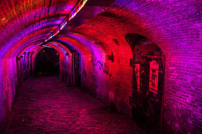 Photograph - Trajectum Lumen Project. Ganzenmarkt Tunnel 2. Netherlands by Jenny Rainbow