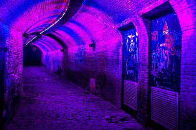 Photograph - Trajectum Lumen Project. Ganzenmarkt Tunnel 5. Netherlands by Jenny Rainbow