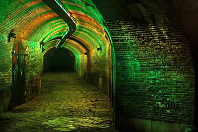 Photograph - Trajectum Lumen Project. Ganzenmarkt Tunnel 7. Netherlands by Jenny Rainbow