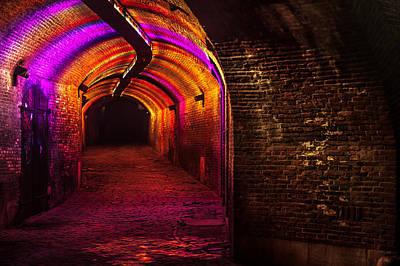 Photograph - Trajectum Lumen Project. Ganzenmarkt Tunnel 8. Netherlands by Jenny Rainbow