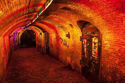 Photograph - Trajectum Lumen Project. Ganzenmarkt Tunnel. Netherlands by Jenny Rainbow